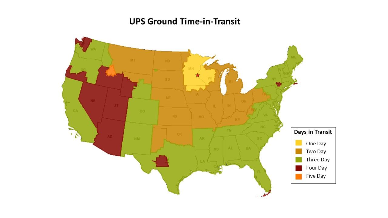 Shipping Map Ground Transit Map 55025