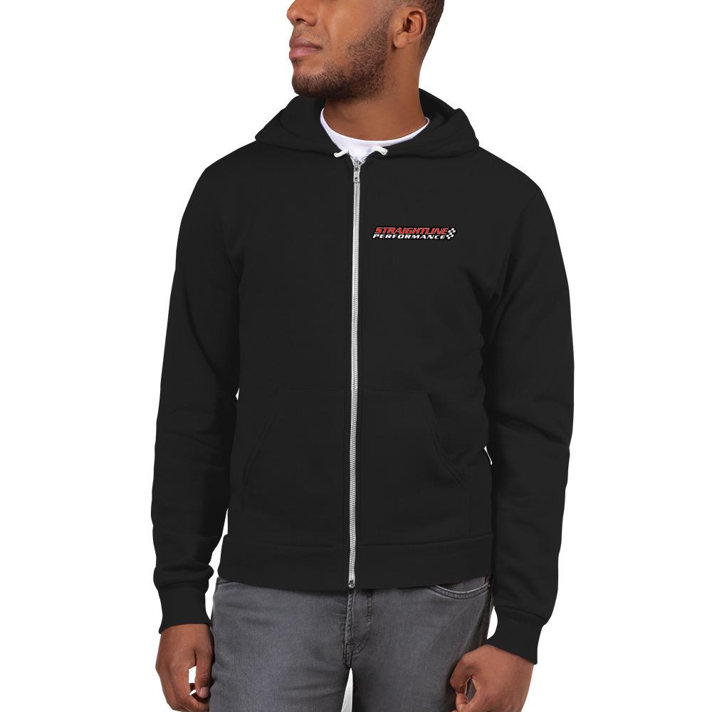 Unisex Zip Up Hoodie Black Front 6107f479e5fb9.jpg